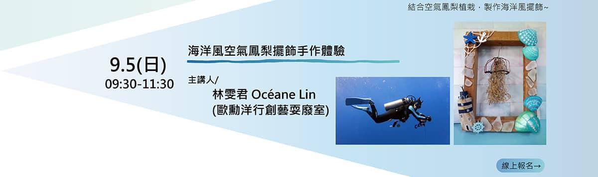 海洋風空氣鳳梨擺飾手作體驗 2021澎湖有氧海洋系列講座